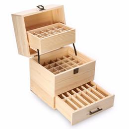 лучшая коробка замок Скидка Best 3 Слоя Деревянный Ящик Для Хранения Carry Организатор Ящик Для Хранения Эфирное Масло Бутылки Ароматерапия Контейнер Металлический Замок Ювелирные Изделия T