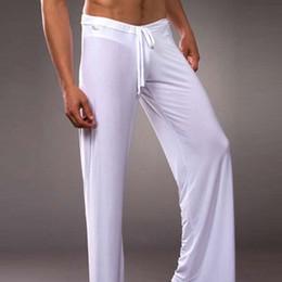 pantaloni di yoga a vita bassa Sconti Pantaloni da notte da donna traspiranti senza maniche in cotone traspirante Pantaloni da notte traspiranti in seta traspirante da uomo