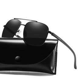 Nuevos anteojos de visión nocturna online-2019 nuevas gafas de sol de 5 colores gafas de sol polarizadas para hombre gafas de visión nocturna gafas de sol vintage de metal envían gafas, bolsas y cajas