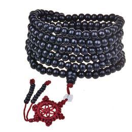 Canada Chaud Naturel Bois De Santal Bouddhiste Bracelets Bouddha Méditation 216 perles En Bois Prière Perle Mala Bracelet Collier Femmes Hommes bijoux cheap sandalwood necklaces Offre