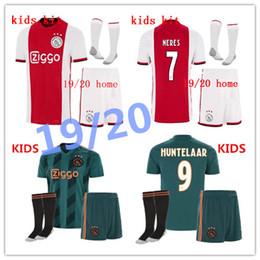 calzini per ragazzi Sconti NOVITA '19/20 Maglia da calcio Ajax FC BAMBINI set CON CALZE 2019/20 home AWAY # 7 NERES # 10 TADIC # 4 DE LIGT 19/20 Ajax BOYS maglia da calcio
