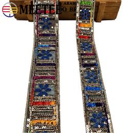 Fil d'or ethnique brodé dentelle garnitures paillettes sangles rubans bande poignets collier dentelle Applique DIY Couture Accessoires ? partir de fabricateur