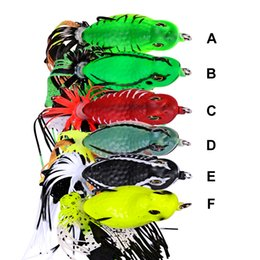 "fishing lures 6cm Promo Codes - boat 1pc Frog Lures High Quality 6 Colors Fishing Lures 6cm-2.36"" 0.46oz-13.18g Fishing Tackle Hard Bait"