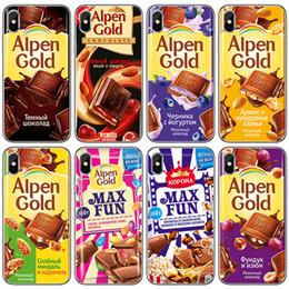 max chocolats Promotion Pour Iphone 11 Pro Xs Max Xr chocolat russe de saut Sucre Téléphone Cas 6 7 8 X Plus transparent téléphone cellulaire souple cas