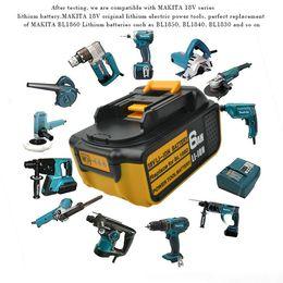 2019 batterie lg he4 18V 3.0 4.0 5.0 6.0 Ah agli ioni di litio batteria ricaricabile con lampada per BL1830 BL1840 BL1850 BL1860 Power Tool Batteria