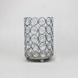2019 candelabros de cristal europeo Crystal Cosmetic Brush Storage Tube Escritorio Exquisito Decoración Sostenedor de la pluma Organizador Candelabro de lujo Estilo europeo 50 Piezas DHL candelabros de cristal europeo baratos