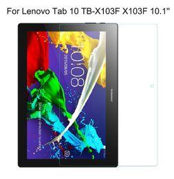 compressa protetta Sconti 9H vetro temperato reale per Lenovo Tab 10 TB-X103F X103F Schermo tablet 10.1 '' schermo trasparente per proteggere la protezione