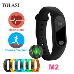 2019 telefoni cellulari Smart Bracelet M2 Wristband impermeabile Wristband Fitness Tracker Bluetooth Smart Band per Android iOS Phone Smartband telefoni cellulari economici