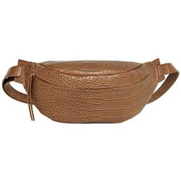 cinturones de cocodrilo Rebajas Patrón de cocodrilo Pu Bolsas de cintura de cuero para las mujeres Color sólido Divertido Paquetes Bolsos de cinturón de señoras para el teléfono femenino paquete divertido