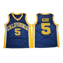 californie t shirts Promotion NCAA California Golden Bears College # 5 Jason Kidd Basketball Jersey Vintage bleu marine Bleu cousue Jason Kidd University Jerseys Shirts S-XXXL