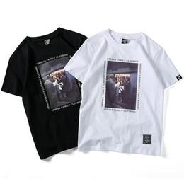 Image blanche de t shirt en Ligne-Tee-shirts pour hommes d'été à manches courtes Lettre Lettre Imprimé Tee Noir Blanc 2 Couleurs Mode T-shirt S-2XL