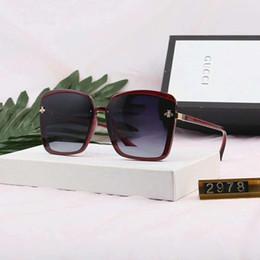 Marca óculos de sol de luxo óculos de sol à moda designer de óculos de sol para homens mulheres de vidro uv400 6 estilo com abelhas de