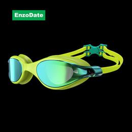 Очки для плавания Плавательные очки Wide Vision Anti-fog Anti-UVA / UVB Крытый открытый морской бассейн для дайвинга Очки для плавания с затычками для ушей от