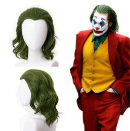 2019 traje dos homens da fantasia 2019 Joker Arthur Fleck Joaquin Phoenix Cosplay Wig 35 centímetros de calor sintética resistente Cabelo Halloween Cosplay Wig