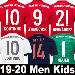 2019 2020 Bayern Munich Munchen LEWANDOWSKI PAVARD camiseta de fútbol Hombres Mujeres Kits de niños MULLER COUTINHO PERISIC KIMMICH ARP HERNANDEZ 19 20 NEUER de portero Tailandia desde fabricantes