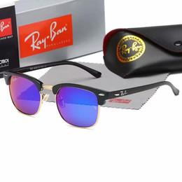 occhiali da sole blu per gli uomini Sconti La migliore scatola per occhiali Migliore qualità Designer di marca Moda Txrppr Montatura in oro Specchio blu Occhiali da sole pilota per uomo e donna UV400 Sport Sole gl
