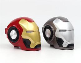 2019 alto-falante bluetooth hy Oradores Gute Homem de Ferro Speaker Ironman wireless Bluetooth LED alto-falantes Flashing Light Mini Bluetooth