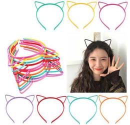 Lindos accesorios para gatos online-Múltiples opciones Corea lindo estilo Simplye Palos de pelo Oreja de gato / Unicornio / Corona / Arco Diseño Chica Niños Palos de pelo Fiesta de cumpleaños Accesorios para el cabello