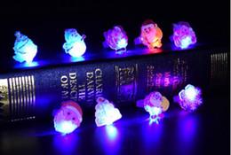 L'anello della luce di vendita calda di Natale ha condotto i giocattoli all'ingrosso dei giocattoli dei bambini dell'anello creativo della luce morbida del flash 6 all'ingrosso da