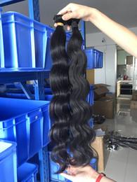 2019 14 indische tempelhaar Körper-Wellen-peruanisches Jungfrau-Haar Extensiones 3 Bundles Natural Black 1b Raw indischen peruanischen Malaysian Virgin Haar Raw Cambodian mongolische Haar