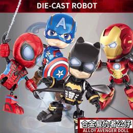 Maquetas de pvc online-Marvel The Avengers Detective Comics Kits de garaje Decoración Anime Hero Creativo Craft Figurilla PVC Niños Juguetes Kits de modelo
