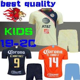 be4a8ce0a KIDS KIT 2018 2019 Club America Soccer Jersey Home away 19 20 LIGA MX  Mateus R .Martínez EL CHANFLE O. Peralta CHILD BOY SET football shirts