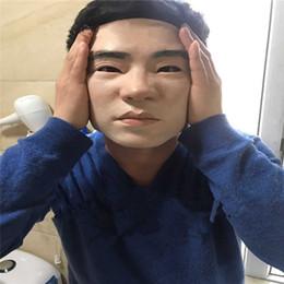 2019 máscaras de crossdresser El grado superior de silicona artificial humana Cara Piel realista Crossdresser Transgénero del partido de Cosplay del vestido de lujo de hasta mascarilla facial máscaras de crossdresser baratos