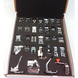 Máquina de coser doméstica Prensatelas Kit de pies de pies con caja Brother Singer Máquinas de coser Herramientas para pies Herramientas de accesorios desde fabricantes