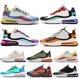 silver jade for men Coupons - 2019 New Air React Free Run Cushions Shoes for Men Women BAUHAUS Hyper Jade Bright Violet Navy blue Travis Scott Designer Trainers Sneakers