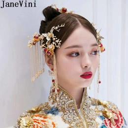 JaneVini per capelli da sposa in stile cinese Set Vintage Hair Sticks  Gioielli Copricapo Donna Sposa pettine Clip Accessori da sposa a prezzi  accessibili ... d0a1cef544e9