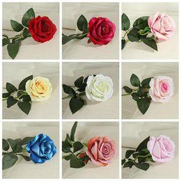 2019 bellissimi fiori singoli Fiori di seta artificiale singola bella rosa peonia fai da te bouquet casa festa di nozze di primavera decorazione matrimonio falso fiore DH0914 bellissimi fiori singoli economici