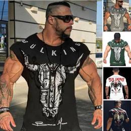 2019 chemises sport ajustées 2019 haute qualité Hommes Gym Tight Tops T-Shirt À Manches Courtes Slim Fit V-Cou Casual Fitness M-2XL promotion chemises sport ajustées