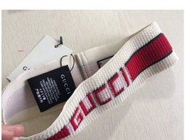 Argentina WW Designer Elastic Headband para mujer y hombre de la mejor calidad Brand Greed y Red Striped Hair bands Head Scarf For Women Girl Headwraps regalos Suministro
