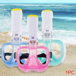 Maschera subacquea hd online-Maschera subacquea impermeabile della spiaggia Maschera antigas portatile Leggera silicone asciutto di ampia visione HD asciutto con Snorkel Underwater # 3