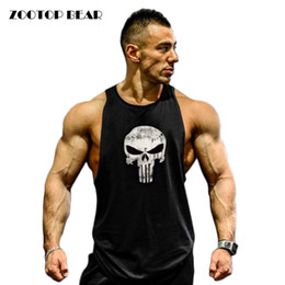 Fitness Débardeur Hommes Bodybuilding 2017 Vêtements Fitness Homme Chemise Crossfit Gilets En Coton Singlets Muscle Top Punisher ZOOTOP BEAR # 105290 ? partir de fabricateur