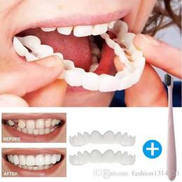 Mükemmel Gülümseme Konfor Fit Flex Dişler Çok Rahat Uygun Yanlış Dişler Üst Kozmetik Sahte Diş Ücretsiz kargo nereden