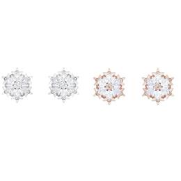 SWA RO Maglc hermosos copos de nieve pendientes femeninos románticos oro blanco oro rosa mejor joyería de moda de la mujer para enviar regalo de amante desde fabricantes