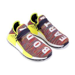 Bonnes chaussures de tennis en Ligne-2019 bonne qualité humaine course humaine Pharrell Williams X BBC jaune noir nerd sport chaussures de course designer hommes chaussures femmes baskets avec la boîte