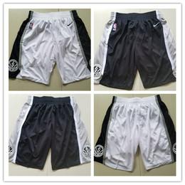 sh shorts Promotion San Men Antonio Spurs Short Tim Duncan Demar DeRozan Short de basket Leonard Leonard Pantalon de survêtement respirant Short en maille à broderies cousues