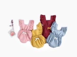 criança bandagem Desconto Ins Verão Bebê Meninas Macacão Crianças Bandage Bebês Bodysuit Crianças Suba Roupas Crianças Onesies Macacão 14806