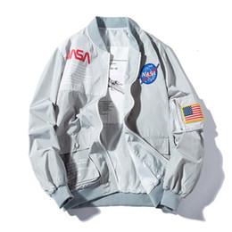 мужские мужские куртки Скидка Весна MA1 Мужчины Bomber Jacket Пиджаки Япония Военный Полет Пилот Куртки Мужское Пальто Колледж Верхняя Одежда Военная Куртка
