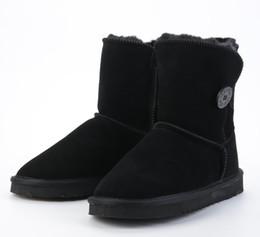 Chaussures en gros cadeaux de noël en Ligne-WHOLESALE AUSTRALIA VENTE CHAUDE CLASSIQUE COURT FEMME SNOW BOOTS FOURRURE INTÉGRÉE GARDER CHAUSSURES CHAUSSURES WGG W EST LE MEILLEUR CADEAU DE NOËL US4-UDS1
