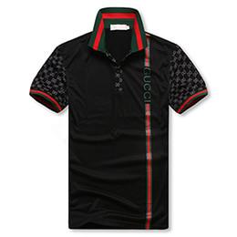 camisas de golfe de algodão impressas Desconto Novo 2019 Mens Verão Tees Plus Size Curto luxo Manga T Shirt Leite Impresso T-shirt de Algodão 3D Roupas de Grife S-XXXL Golf Tshirt
