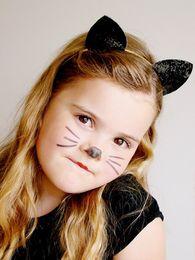 2019 cadono accessori per i capelli neri Hairban glitter Fascia per orecchie di gatto carina Orecchie di topo di animale carino Fasce per bambini Capelli per bambini e adulti Abiti da festa CNY1188