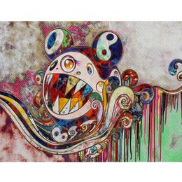 2019 dipinti astratti bianchi neri rossi 5D fai da te pieno pittura diamante rotondo punto croce cartone animato takashi murakami diamante ricamo mosaico fai da te pittura dai numeri