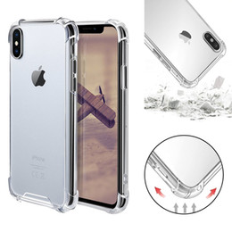 Argentina Transparente A prueba de golpes Acrílico Híbrido Armadura Parachoques Cubierta de estuche rígido de marco de TPU suave para iPhone XR XS MAX 8 7 Samsung S10 Plus Suministro