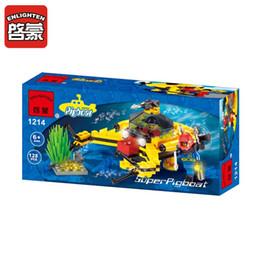 ILLUMINAZIONE City Series Treasure Scavare Sottomarino Modello Building Blocks FAI DA TE Action Figure Giocattoli Per Bambini Compatibile Legoe da fiammiferi dentellare di plastica all'ingrosso fornitori