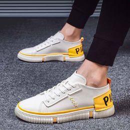 Männer gute marken-turnschuhe online-NON-Brand Good Black white Yellow Low cut Brown Men Casual shoes comfortable Cheap breathable women men shoe sports sneakers style 17