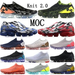 Fly 2.0 Moc Acrónimo Light Bone Mica Green Thunder Blue Neutral Olive Knit FK hombres mujeres zapatillas deportivas Zapatillas deportivas baratas