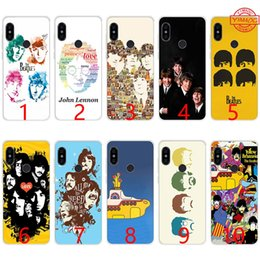 Couverture de beatles en Ligne-Rock and Roll Band les Beatles paroles musique Soft Case Silicone TPU Téléphone pour Xiaomi Mi A1 5X6 6X8 SE Mix 2S A2 couverture